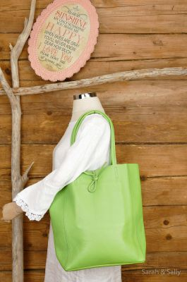 Echt Ledertasche   Green Apple