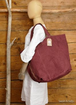 Canvas Tasche in Brick Red