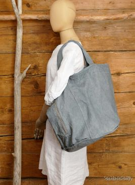 Canvas Tasche in Grey