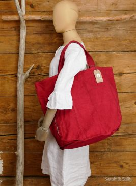 Canvas Tasche in Red